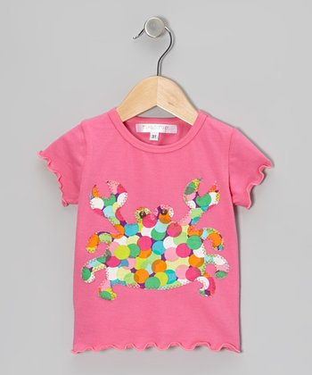 Pink & Rainbow Crab Tee - Infant
