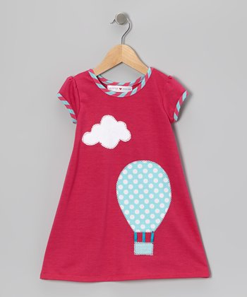 Fuchsia & Blue Hot Air Balloon Dress - Infant, Toddler & Girls
