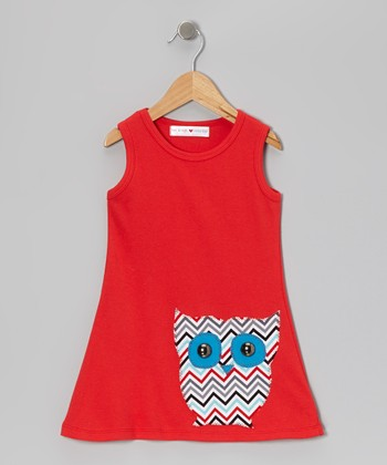 Red Owl Dress - Infant, Toddler & Girls