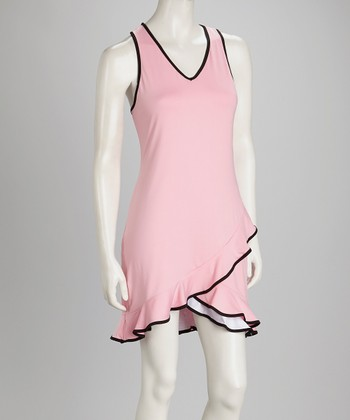 Pink & White Reversible Tennis Dress & Shorts - Women
