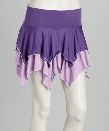 Purple & Lilac Reversible Tennis Skirt & Shorts - Women