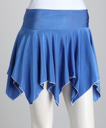 Blue & Gray Reversible Tennis Skirt & Shorts - Women