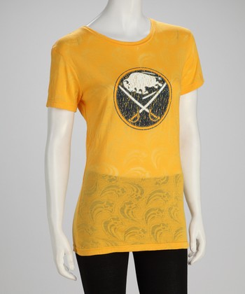 Yellow Buffalo Sabres Tissue Tee - Women