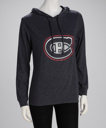 Charcoal Montreal Canadiens Hoodie - Women