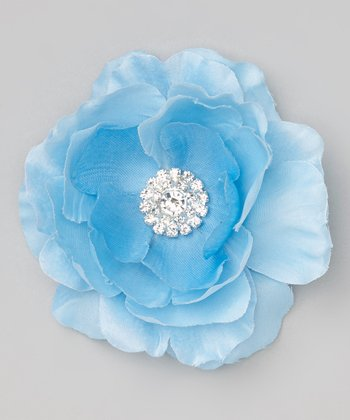 Light Blue Flower Clip