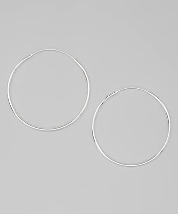 Sterling Silver 50 mm Hoop Earrings