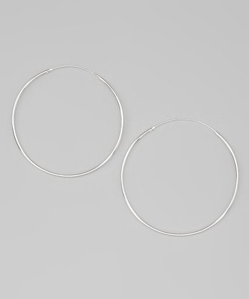 Sterling Silver 60 mm Hoop Earrings