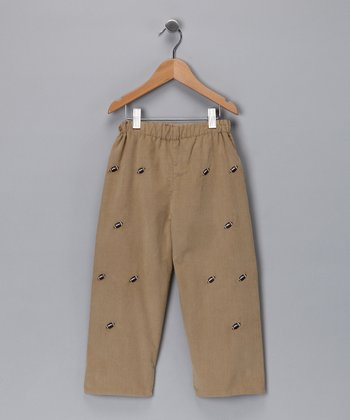 Tan Football Pants - Toddler & Boys