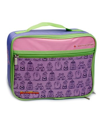 Purple 'I Have Food Allergies' Lunch Bag