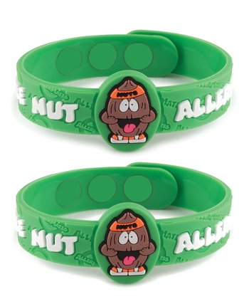 Tree Nut Health Alert Bracelet - Set of Two