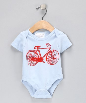 Team Chipmunk Blue Bike Bodysuit - Infant