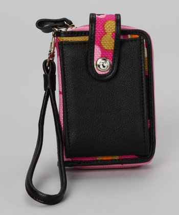 Wild Raspberry & Black Sirena Cell Phone Wallet