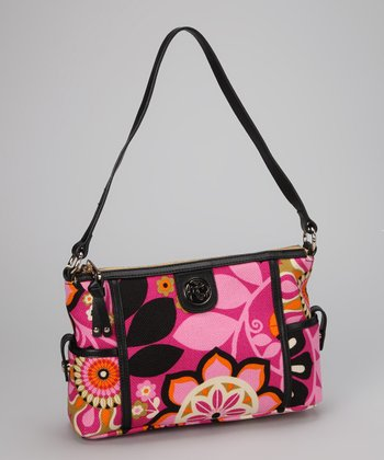 Wild Raspberry & Black Sirena Shoulder Bag