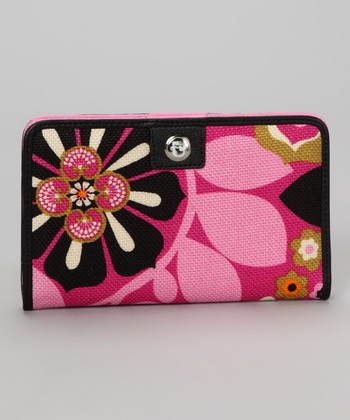 Wild Raspberry & Black Sirena Snap Wallet