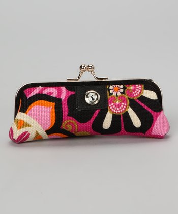 Wild Raspberry & Black Sirena Clutch