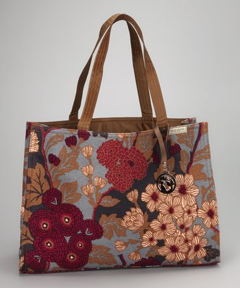 Blue & Magenta Lesesne Shopper