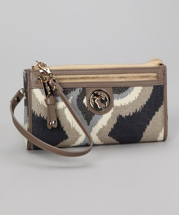 Gray & Cream Miss Billie Fanfare Wallet