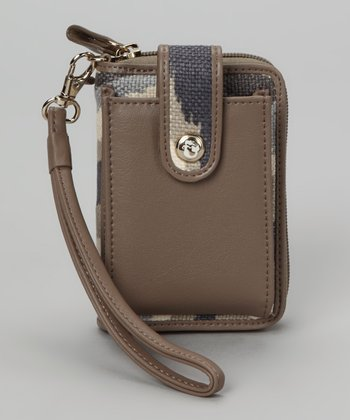 Gray & Cream Miss Billie Cell Phone Wallet