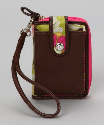 Camellia Cell Phone Wallet