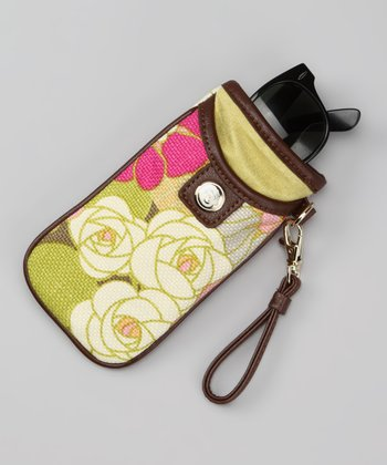 Citrus & Magenta Camellia Soft Glasses Case