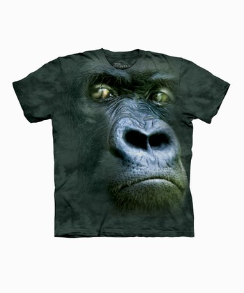 Dark Green Silverback Portrait Tee - Toddler & Kids