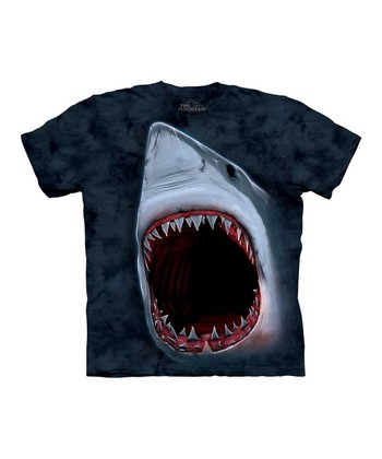 Blue Shark Bite Tee - Kids
