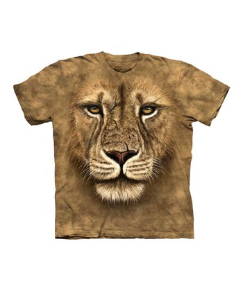Tan Lion Warrior Tee - Kids
