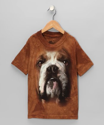 Tan Bulldog Tee - Toddler & Kids