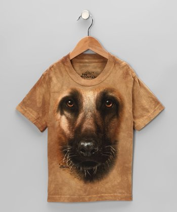 Tan German Shepherd Tee - Toddler & Kids