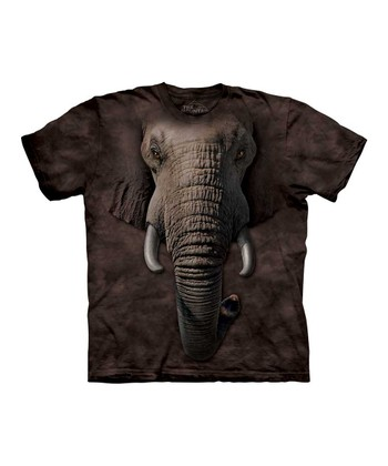 Brown Elephant Face Tee - Kids
