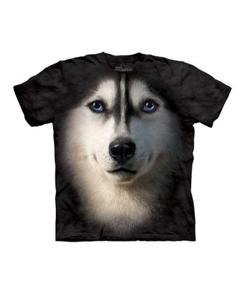 Black Siberian Husky Tee - Toddler, Kids & Adult