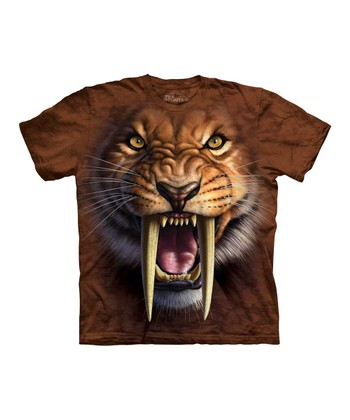 Brown Sabertooth Tiger Tee - Toddler & Kids