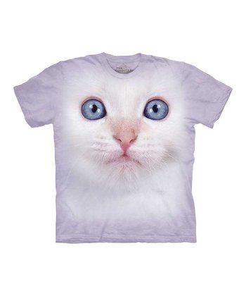 Light Purple Kitten Face Tee - Toddler & Kids