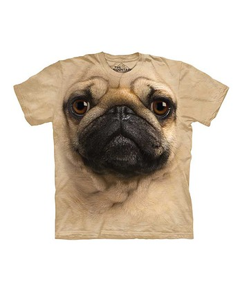 Tan Pug Tee - Toddler, Kids & Adult