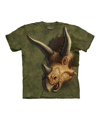 Brown Triceratops Head Tee - Toddler & Boys