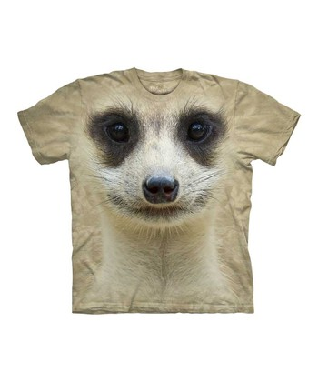 Tan Meerkat Face Tee - Toddler & Kids