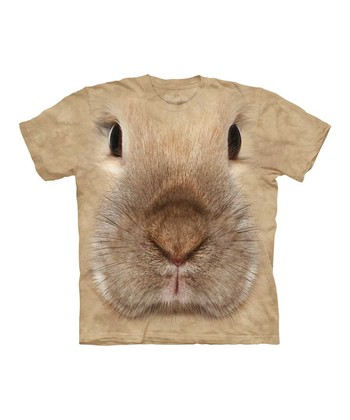Tan Bunny Face Tee - Toddler & Kids