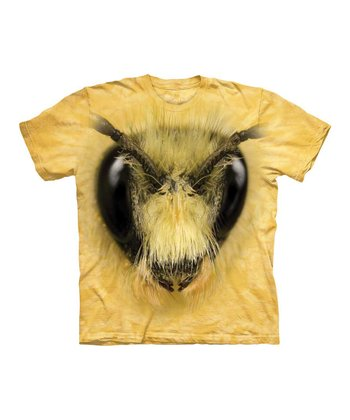 Yellow Bee Head Tee - Toddler & Kids