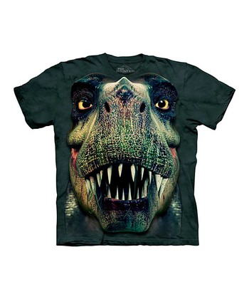 Green T-Rex Portrait Tee - Toddler & Boys