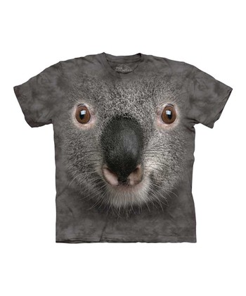 Purple Koala Face Tee - Toddler & Kids