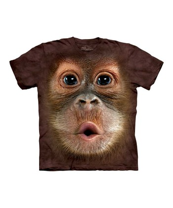 Brown Baby Orangutan Face Tee - Toddler & Kids