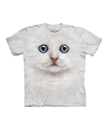 Ivory Kitten Face Tee - Kids