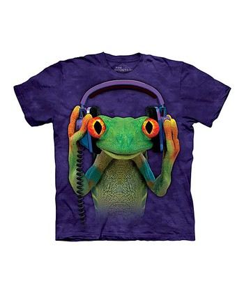 Purple DJ Lizard Tee - Toddler & Kids