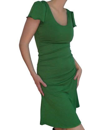 Grass Green Summer Maternity & Nursing Dress