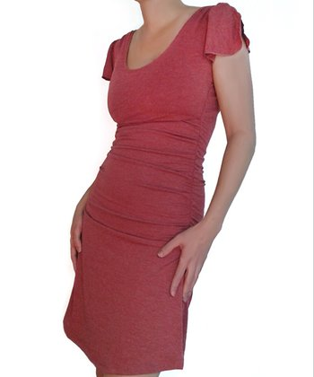 Heather Red Summer Maternity & Nursing Dress
