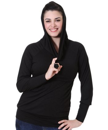 Black Co-Z Maternity & Nursing Hoodie
