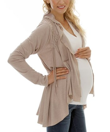 Makeup Maternity & Nursing Open Cardigan