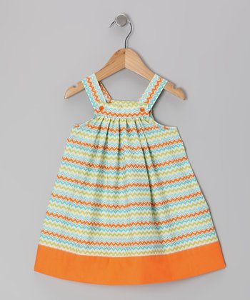 Orange Zigzag Jumper - Toddler & Girls