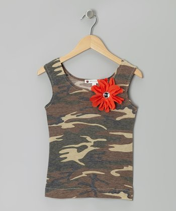Camo Flower Tank - Toddler & Girls