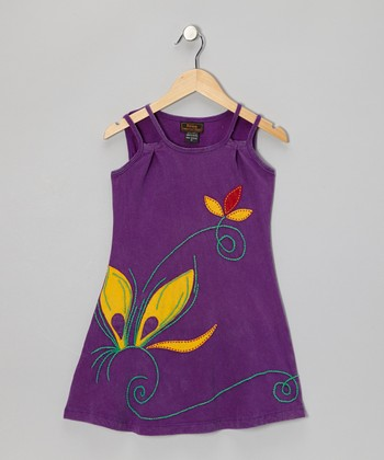 Purple Flower Dress - Girls